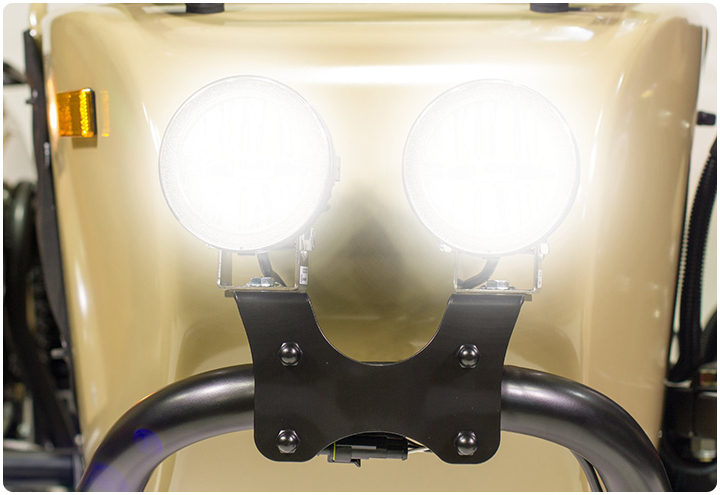 Sidecar LED Fog Lights